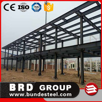 pre engineering steel structure hotel with workshop building house