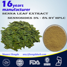 Senna Leaf extract, Sennosides 3%-8% by HPLC 100% Nature Organic high quality healthy