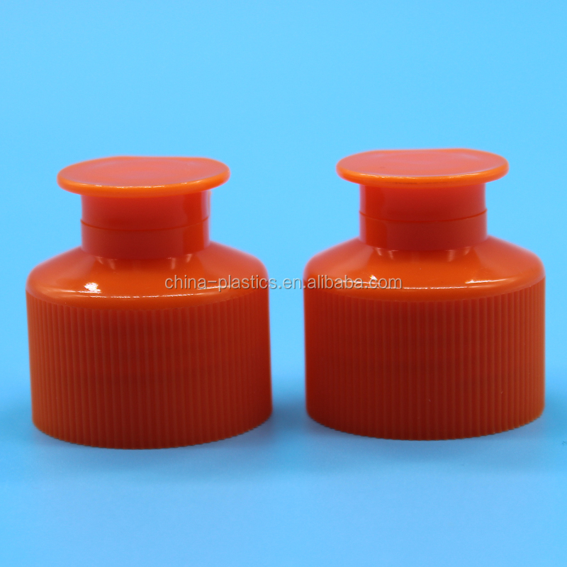 Chinese suppliers red plastic flip top caps,screw cap