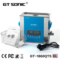 GT SONIC CE ROHS PSE GS Approved 6L Double Power Ultrasonic Cleaner