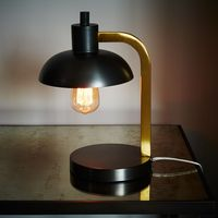 11.23-12 a tall Edison bulb industrial chic Petite powerful Table Lamp just the right size for a desk or nightstand
