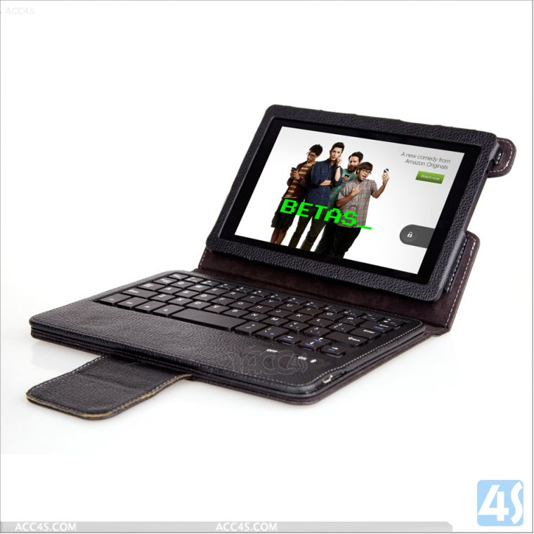 portable keypad leather case for Amazon Kindle Fire HD 2013 (HD7 2) P-KINDLEFIREHD7iiCASE005
