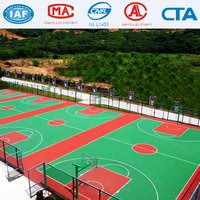 Silicon PU Court Flooring for Basketball Court/tennis court/badminton court floor