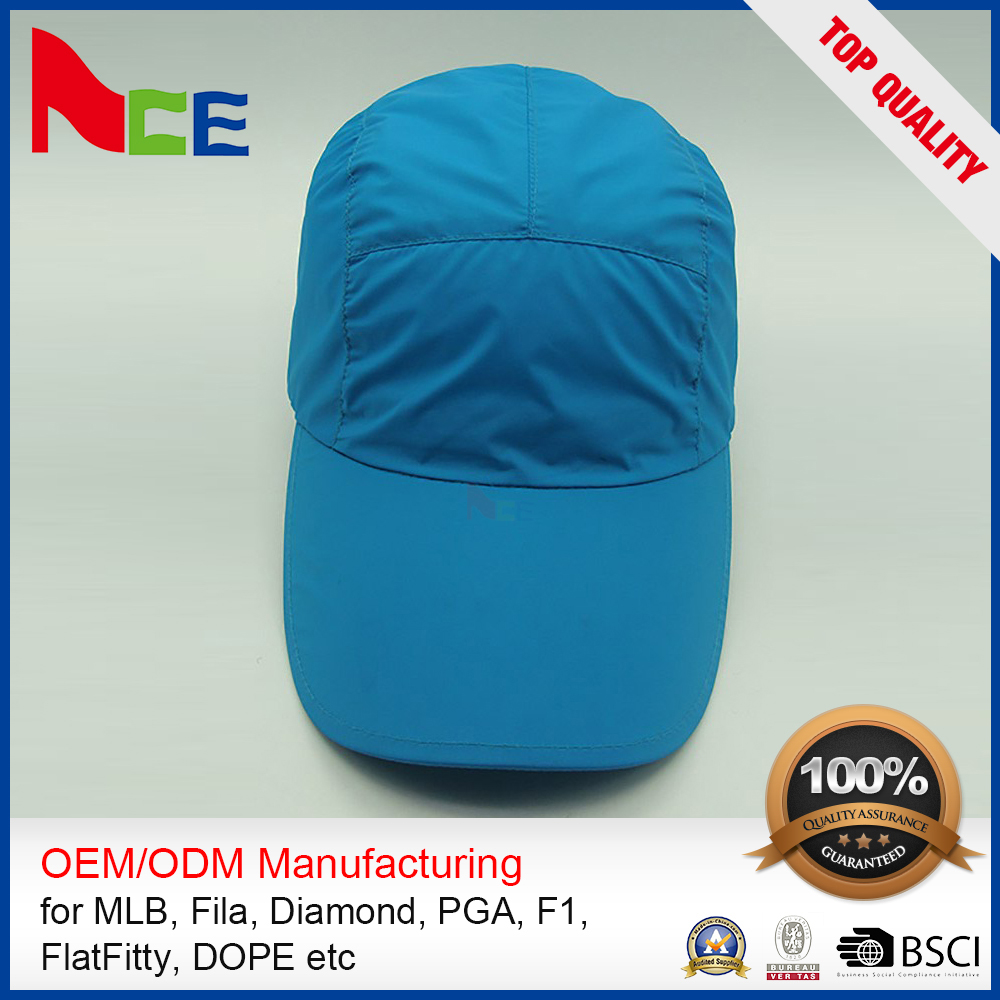 100% Cotton Hats Panel 3d Embroidery Fitted Ventilate Golf Cap