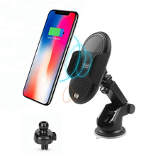 QI 10W automatic infrared sensor C8 fast wireless car charger factory with holder mount