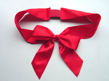 pull string christmas gift packing ribbon bow