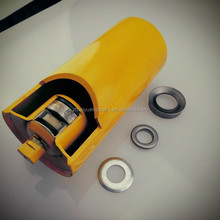 Rotating small damping Steel roller steel rubber roller for belt conveyors