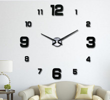 2018 DIY Large Wall Clock 3D Mirror Surface Sticker Home Office Decor Waterproof Bathroom Wall Clock in Stock
