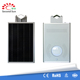Integrated design stainless steel solar garden post light with motion sensor control