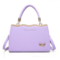 Fresh Elegant Metal Handbag|Ladies Tote Bag With Bow|Stocked Wholesale Japanese Korean Lady Metal Handbag (XJSF37)