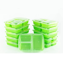 Microwave Safe Bpa free Storage 3 compartment food packaging containers with Lids Takeaway Lunch box