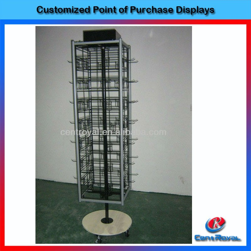 Fashion Design rotating stand cell phone accessory display stand