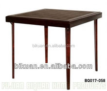 BQ square folding wood tree table