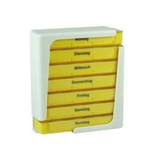 Small Stackable Weekly Pill Box, Tower Pill Organizer,