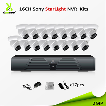 2018 New developed product 16ch security cctv system bullet HD 1080p ip camera p2p free onvif ip66 widely used outdoor