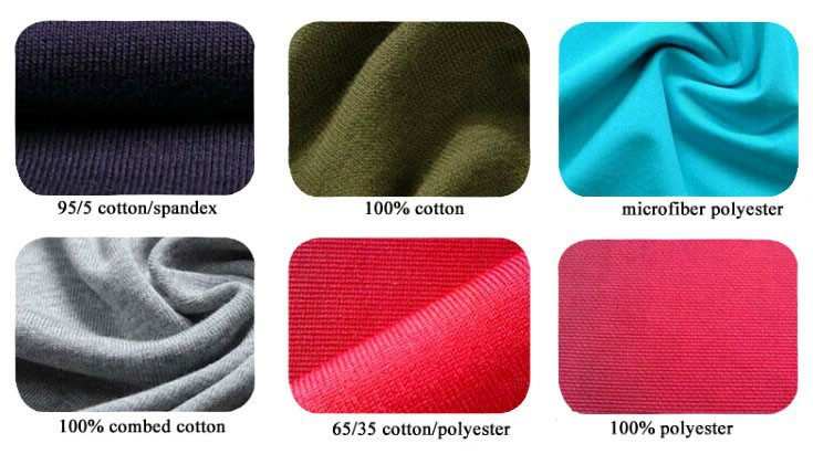 Free sample 65 polyester 35 cotton 32s fabric 130gsm for Different types of polo shirts