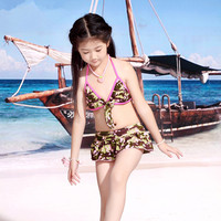 S13736A 2016 Kid Swimwear Girl's 2 Pcs Bikini Swimsuits