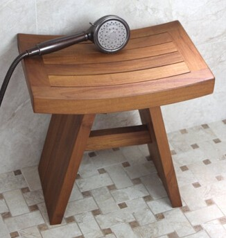 wooden chair simple design durable wooden bathroom stool teak shower seat