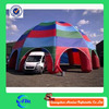 Deep colorful inflatable car garage tent, inflatable hail proof car cover tent for sale