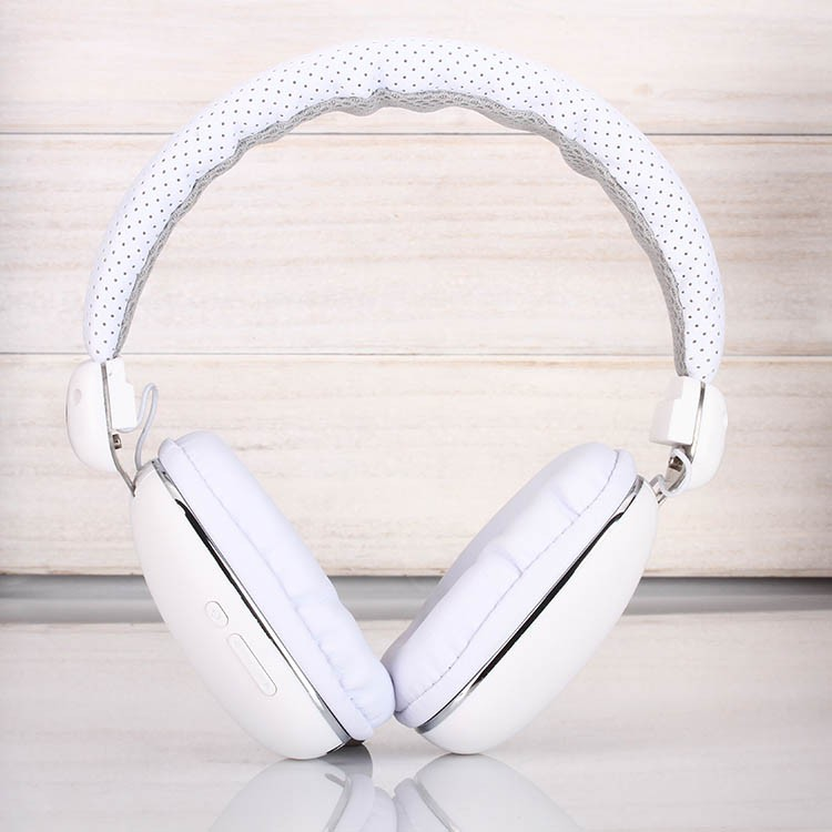 Wireless headphones over ear gaming headsets stretch earphones breathable leather with mic