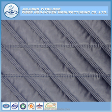 Polyester Nonwoven Cotton Filling Pre Quilted Leather Fabric for Jacket/Coat