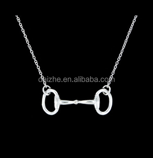 high quality horse jewelry Sterling Silver D-Ring Snaffle Bit <strong>Necklace</strong>
