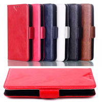 Luxury genuine oil leather stand wallet case for LG G3