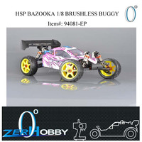 rc car hsp bazooka 1/8 electric powered brushless buggy 4wd off road rtr (item no. 94081-EP)