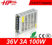 factory price CE RoHS constant voltage single output ac dc regulated 100w 2.5a 36v LED driver switching power supply