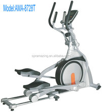 Commercial magnetic elliptical cross trainer with moving wheels and 9kgs flywheel bodybuilding gym equipment AMA8728T