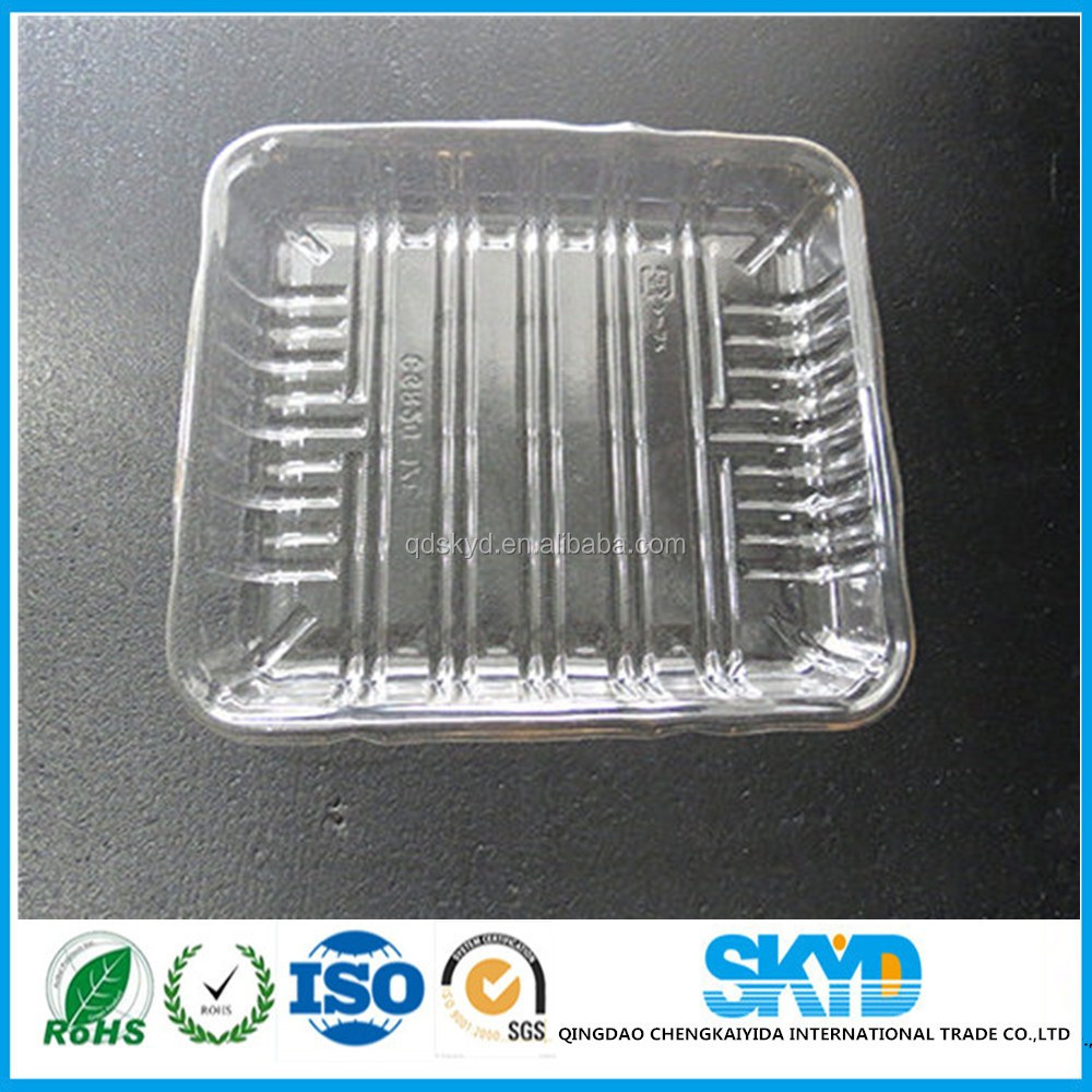 Accept Custom Order meat chicken salad fish tray disposable polypropylene vacuum forming plastic packaging