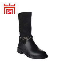 2018 new fashion black leather women winter boots geniune ankle boots for women