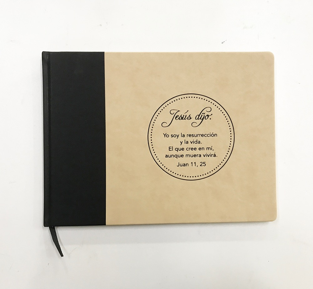 PU Cover /Leather Cover Guest Book Supplier