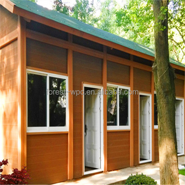 3M x 6M FRSTECH wood plasric composite houses / prefabricated wood houses / wood prefabricated houses and villas