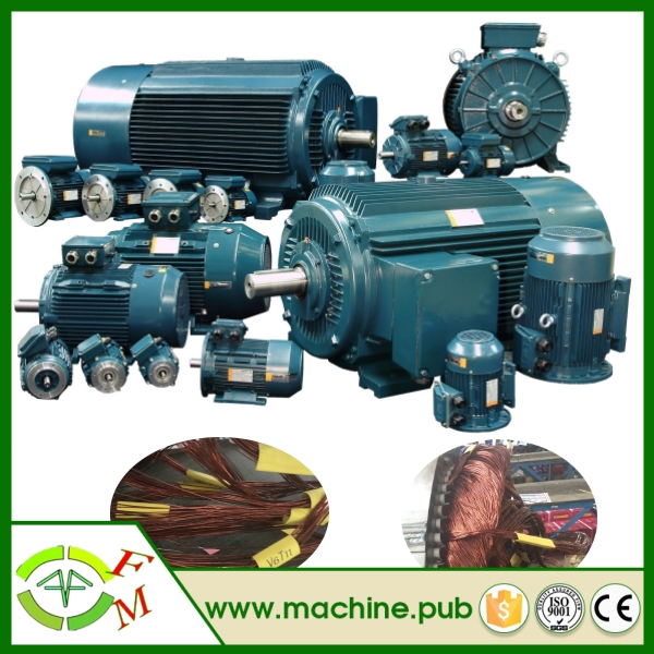 Commercial dc motor for generator