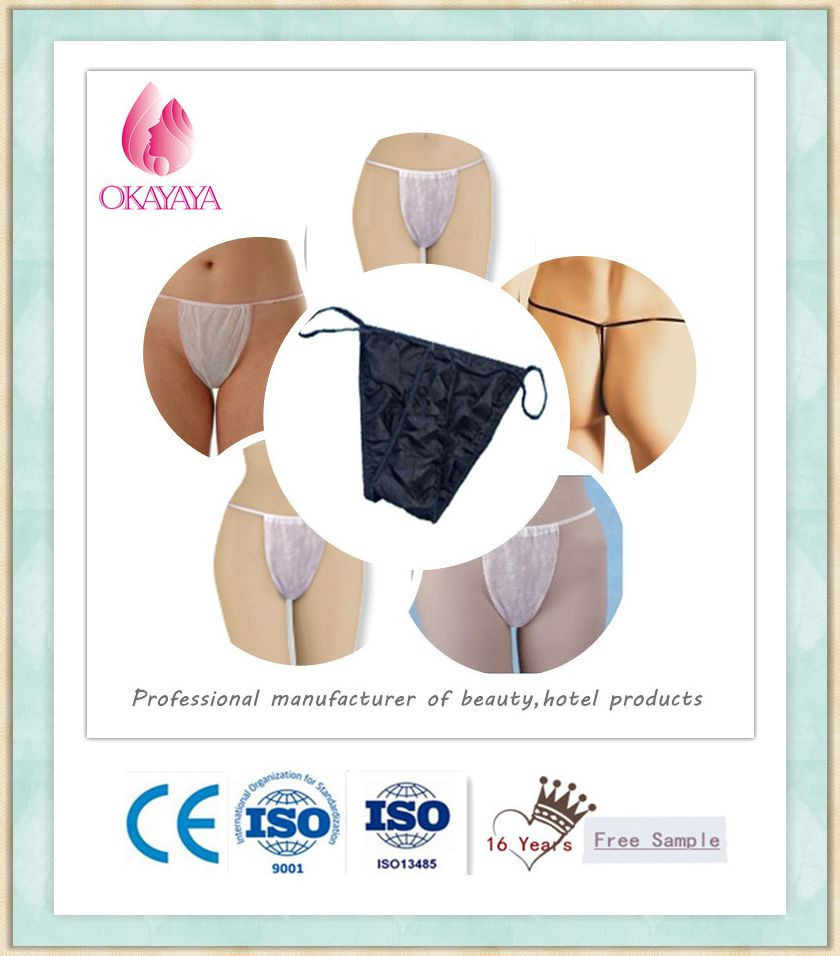 Disposable Nonwoven G string for spa tanning and beauty supplies