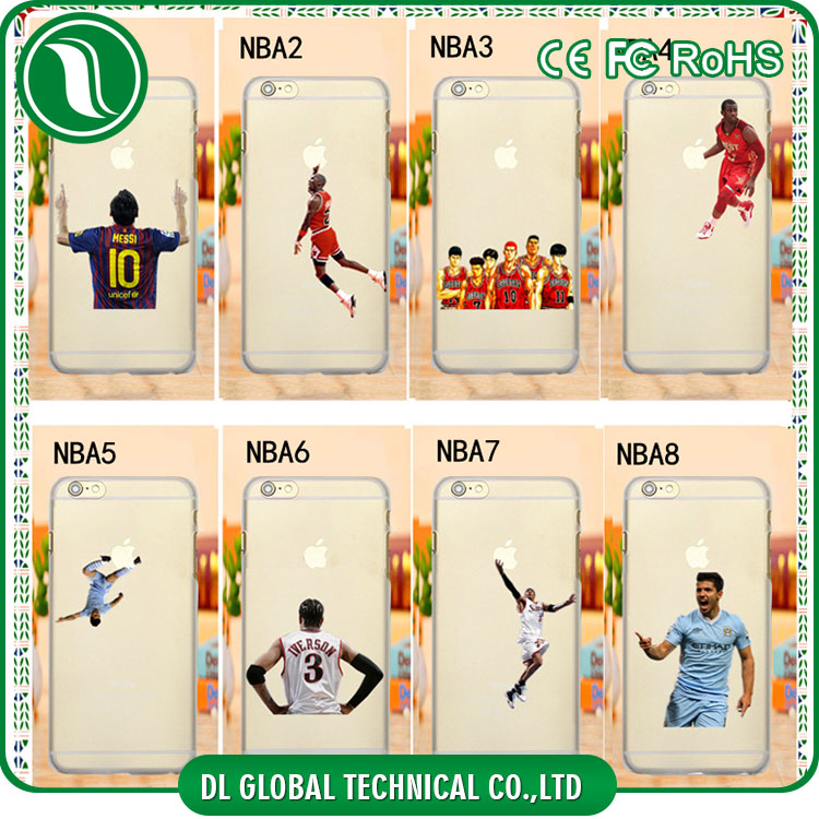 New products basketball stars NBA players mobile covers for iphone 6s Soft TPU printing mobile phones covers
