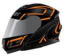 matt black DOT approved modular flip up motorcycle helmet