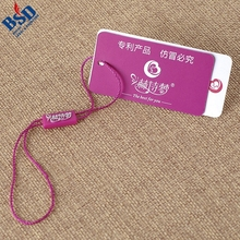 Custom hang tag plastic string tag and garment seal tags for clothing