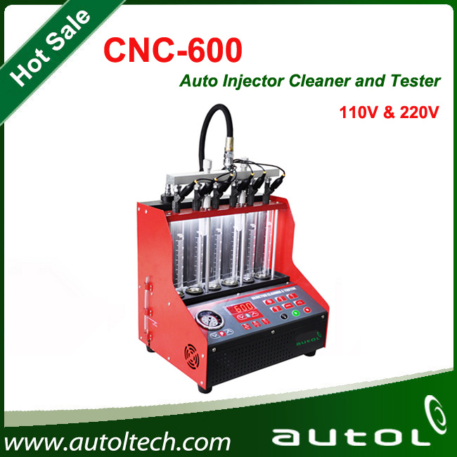English Version CNC600 Fuel Injector Cleaner and Tester perform cleaning on the injectors and fuel supply system on vehicle