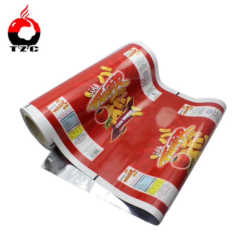 roll film for vertical packaging machinery to package chips