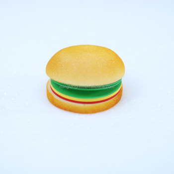 Foam sponge factory wholesale sponge surface hamburger shape memo pad for everyone