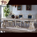 classic dining room furniture - solid wood hand carving dining table