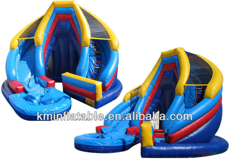 inflatable wet or dry slide