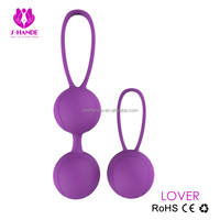 Beautiful yong silicone sex doll silicone love ball Kegel ben wa balls for women