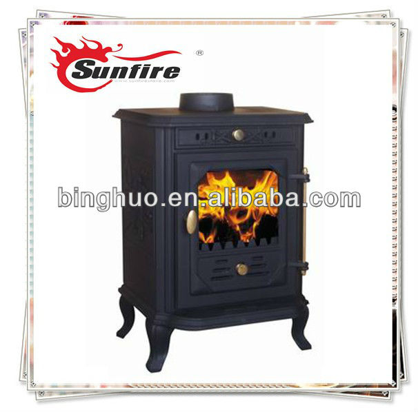 7KW Small IndoorCast Iron Wood Stove Door