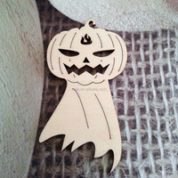 Wood pumpkin ornaments halloween decorations