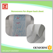 Professional Manufacturer 18g/m2 SSS Sonw White Soft Hydropilic Nonwoven Underpad Recycled Non-woven Fabric