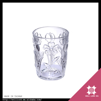 Girl's favorite pretty flower decoration clear candle glass container