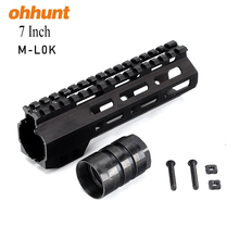 Ohhunt Lightweight Tactical AR15 M4 Keymod Series Compatible 7Inch Slim M-LOK Free Float Handguard With Steel Barrel Nut